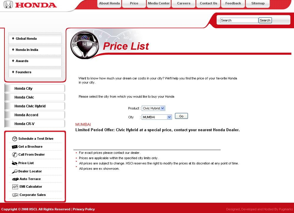 Honda Civic Hybrid Special Price