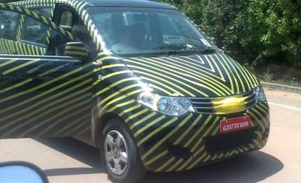2012 Chevrolet Enjoy MPV Spied
