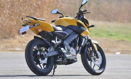 2012 Bajaj Pulsar200NS yellow rear