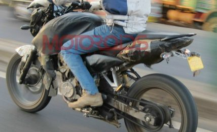 2012 Bajaj Pulsar spy shot side