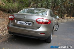 2012 Renault Fluence Rear View