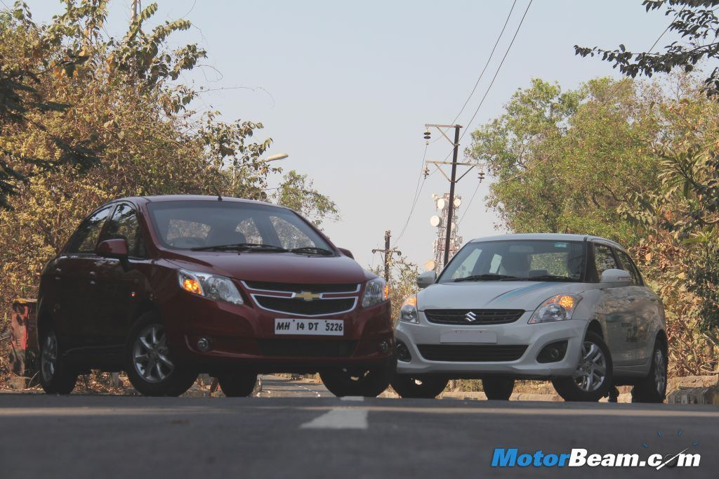 2013 Chevrolet Sail vs Maruti DZire Shootout