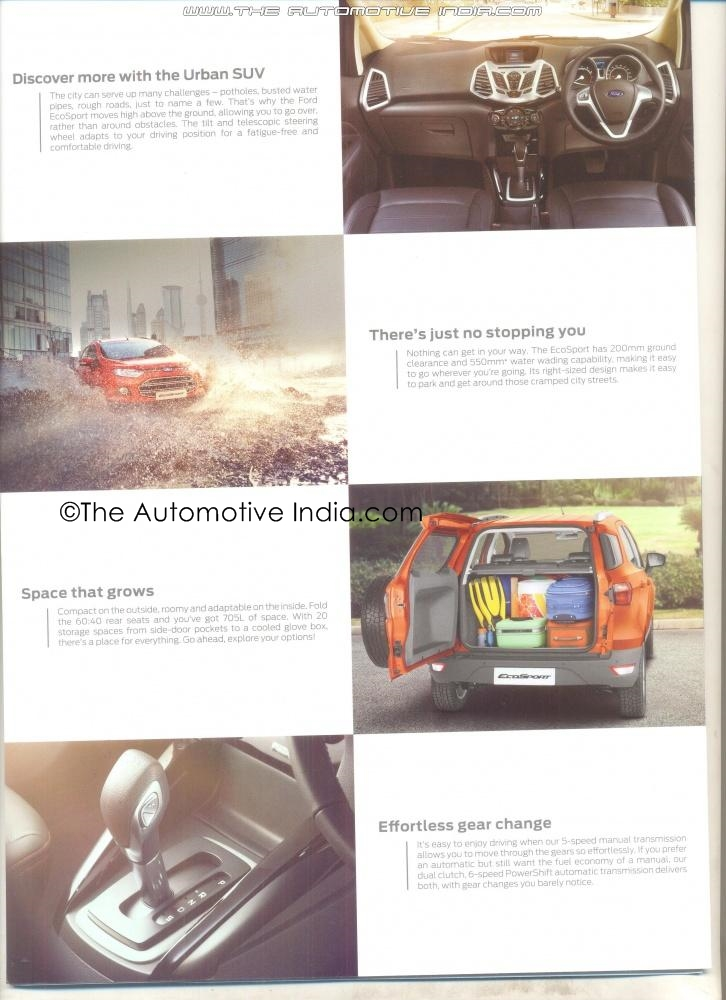 2013 Ford Ecosport Brochure-Features