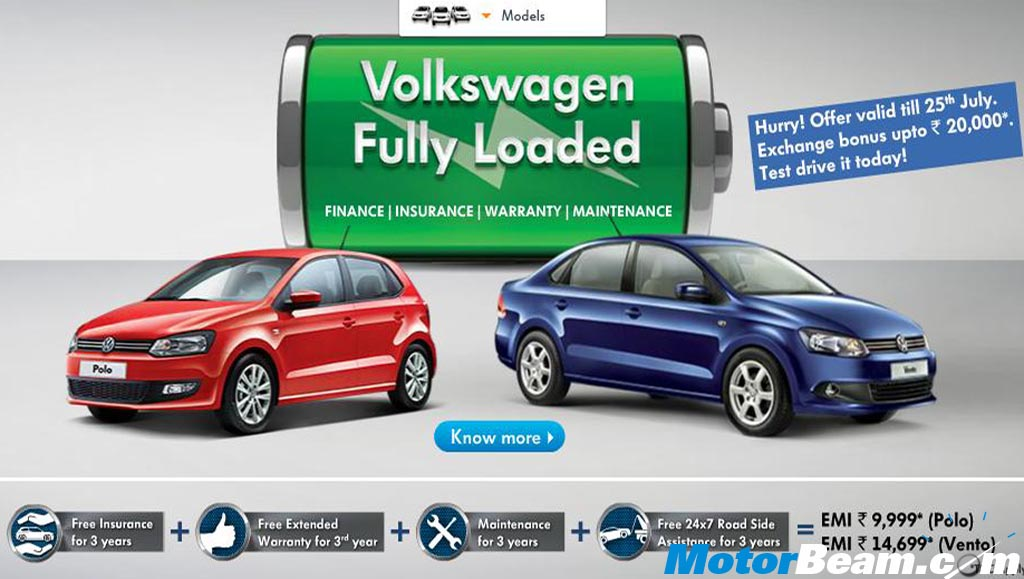 Volkswagen finance announces attractive schemes on polo and new.