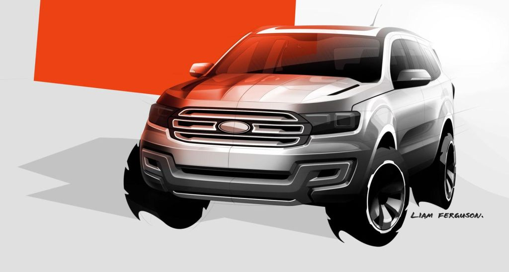 2014 Ford Endeavour Sketch
