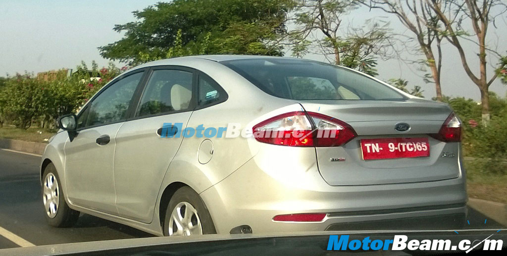 2014 Ford Fiesta Facelift Spy Shot Tail Lights