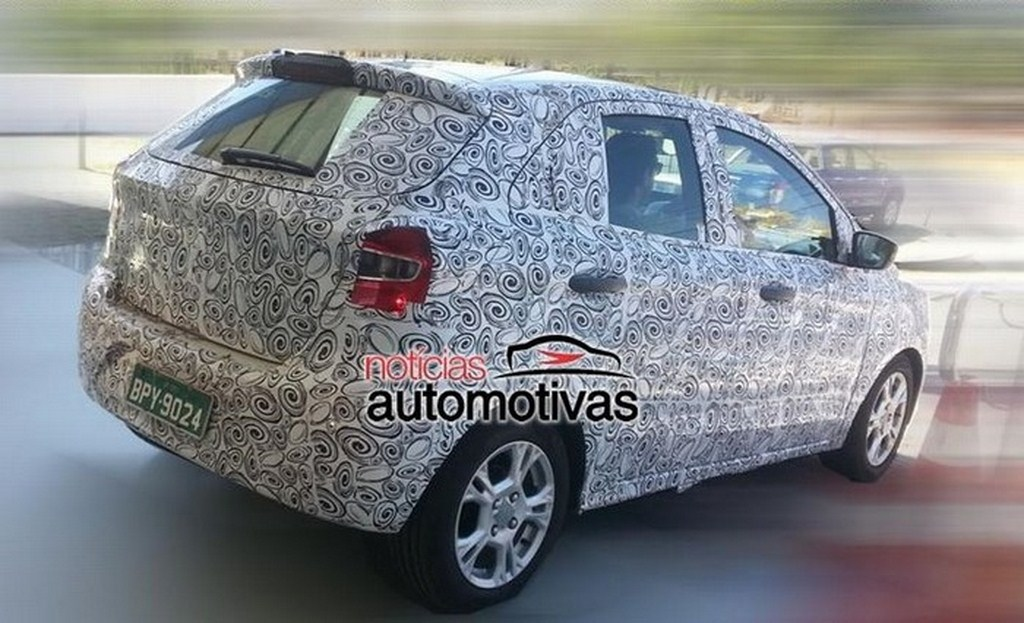 2014 Ford Figo Camouflaged Rear