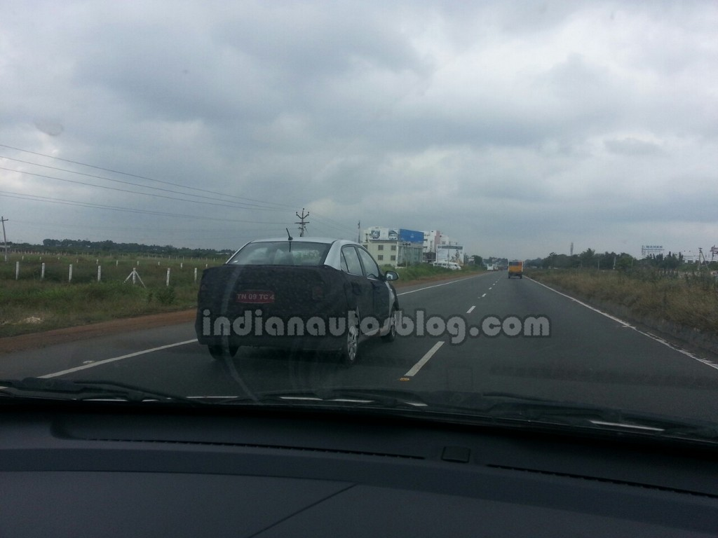 2014 Hyundai Grand i10 Sedan Spied Rear