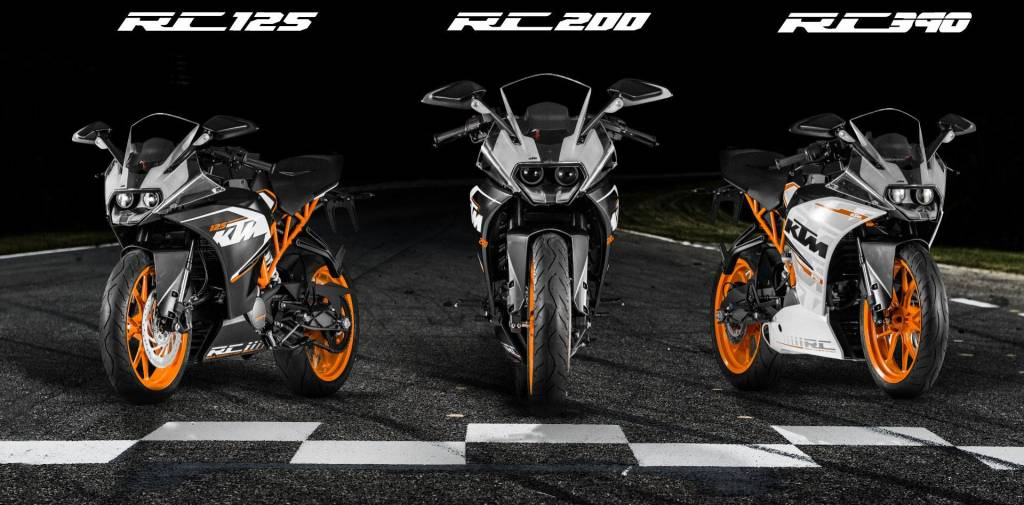 ktm rc 125 rc 200 rc 390 officially unveiled