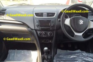 2014 Maruti Swift Facelift Spied Interior