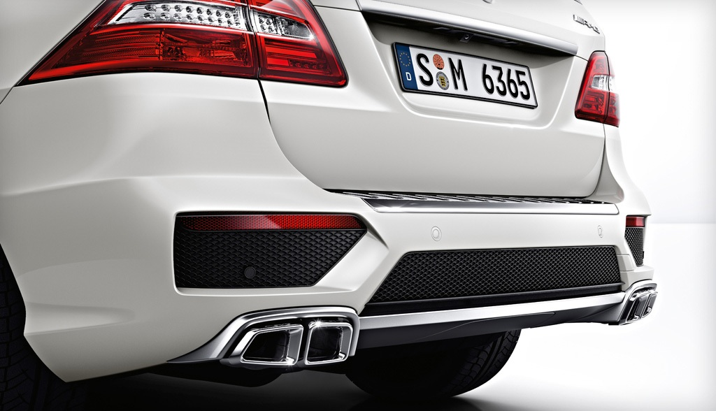 2014 Mercedes ML63 AMG Quad Exhausts