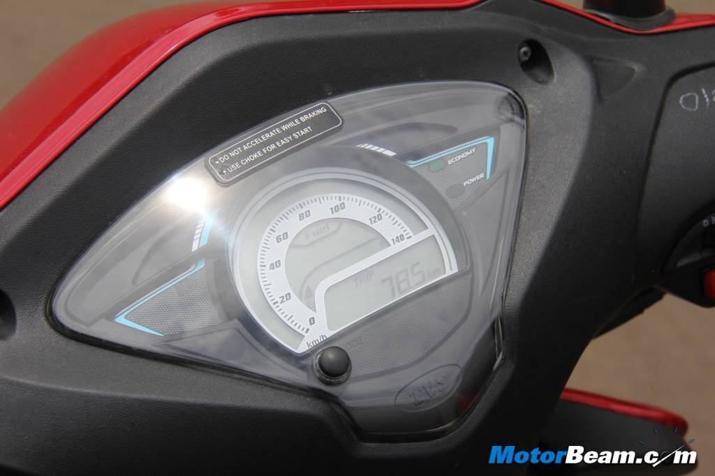 2014 TVS Wego Digital Meter