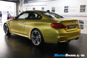 2015 BMW M4 Launch Rear Profile