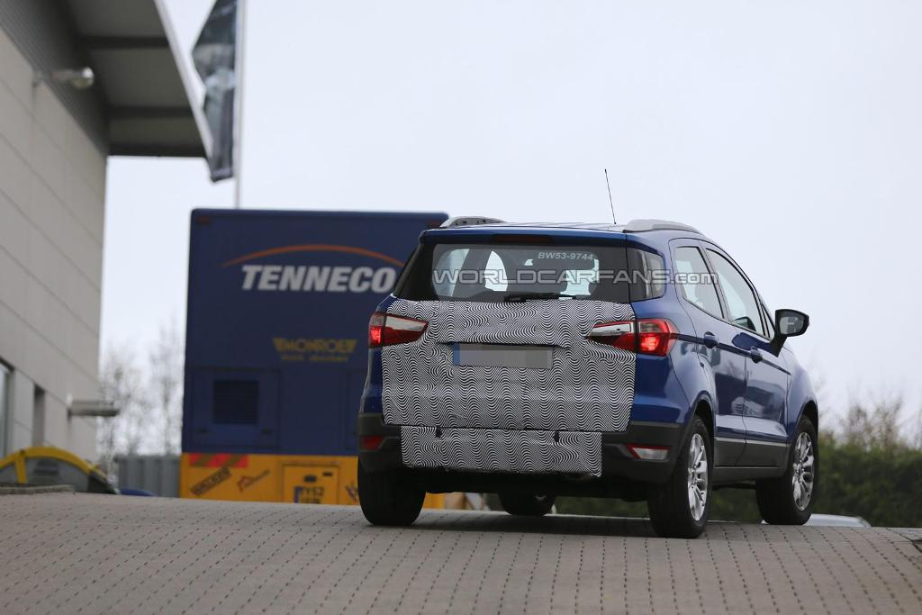 2015 Ford EcoSport Spied Spare Wheel