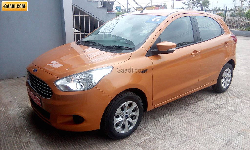 2015 Ford Figo Hatchback Spotted Dealership