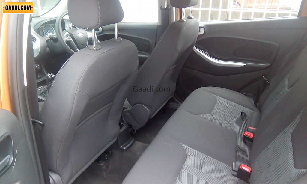 2015 Ford Figo Hatchback Spotted Rear Seat