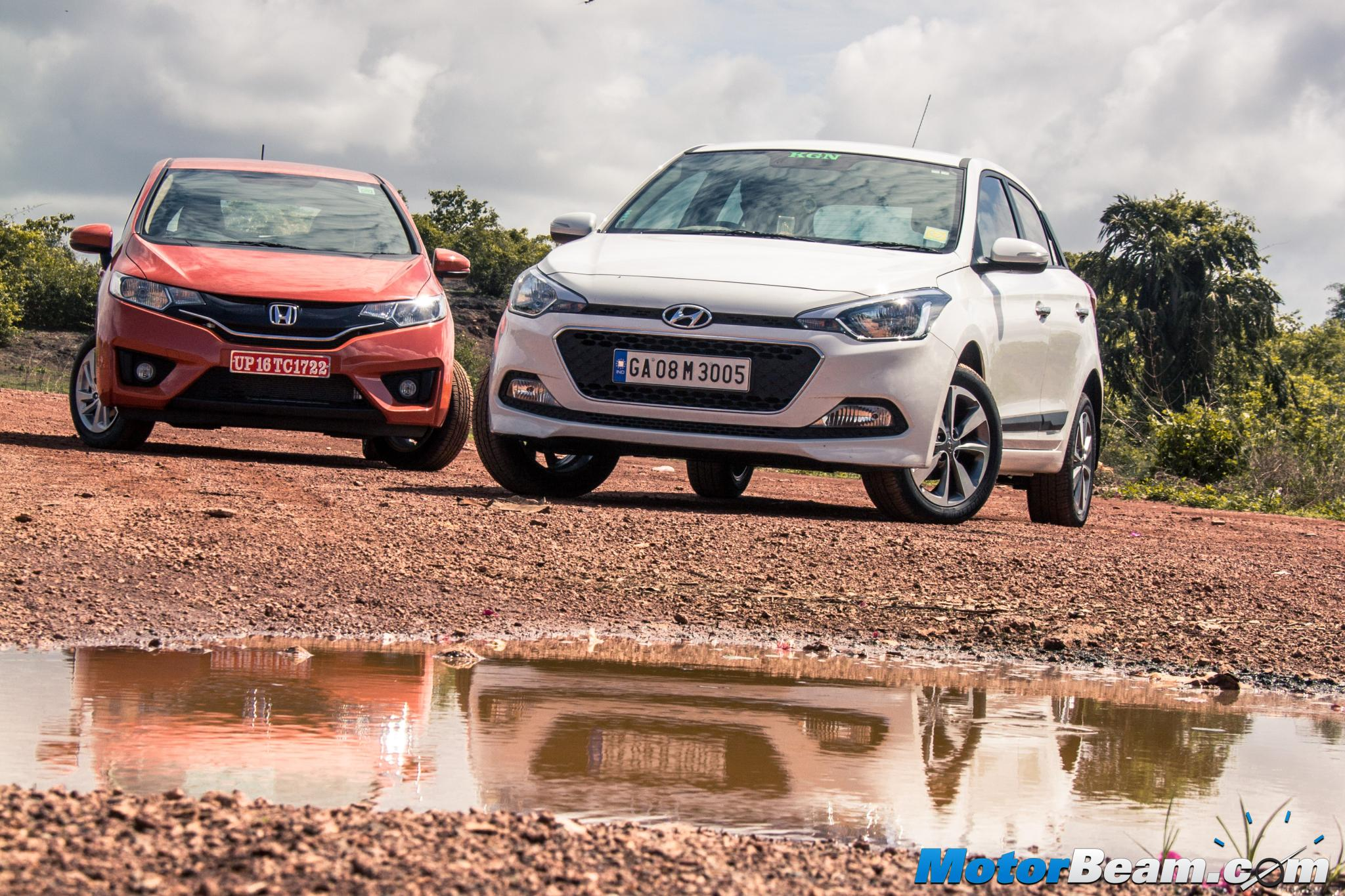 2015 Honda Jazz vs Hyundai i20 Review