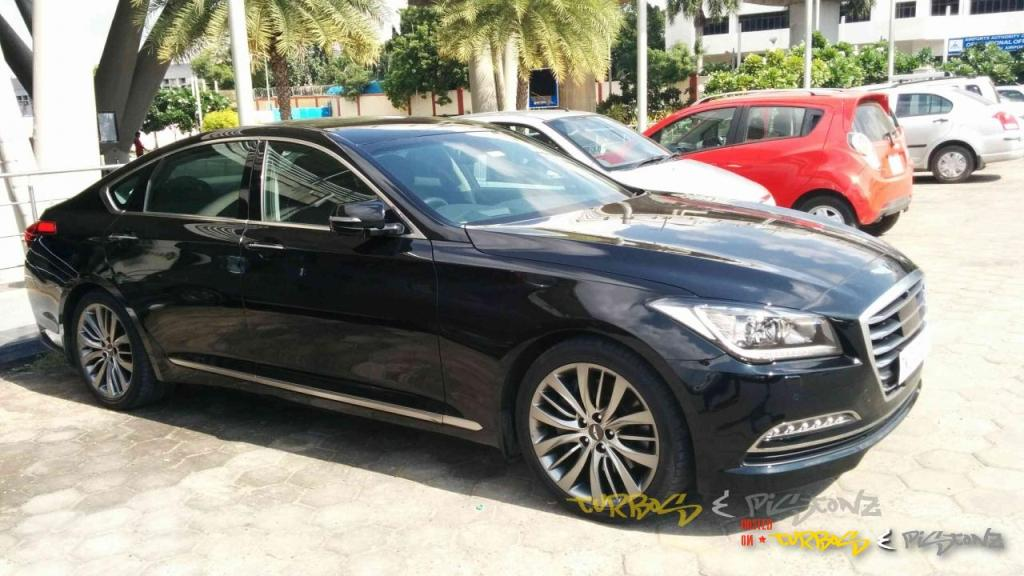2015 Hyundai Genesis Spotted In Chennai India Launch Possible