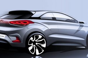 2015 Hyundai i20 Coupe Official Sketch