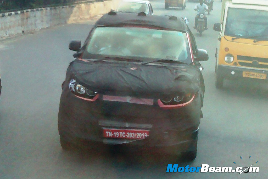 2015 Mahindra S101 Compact SUV Spied Front