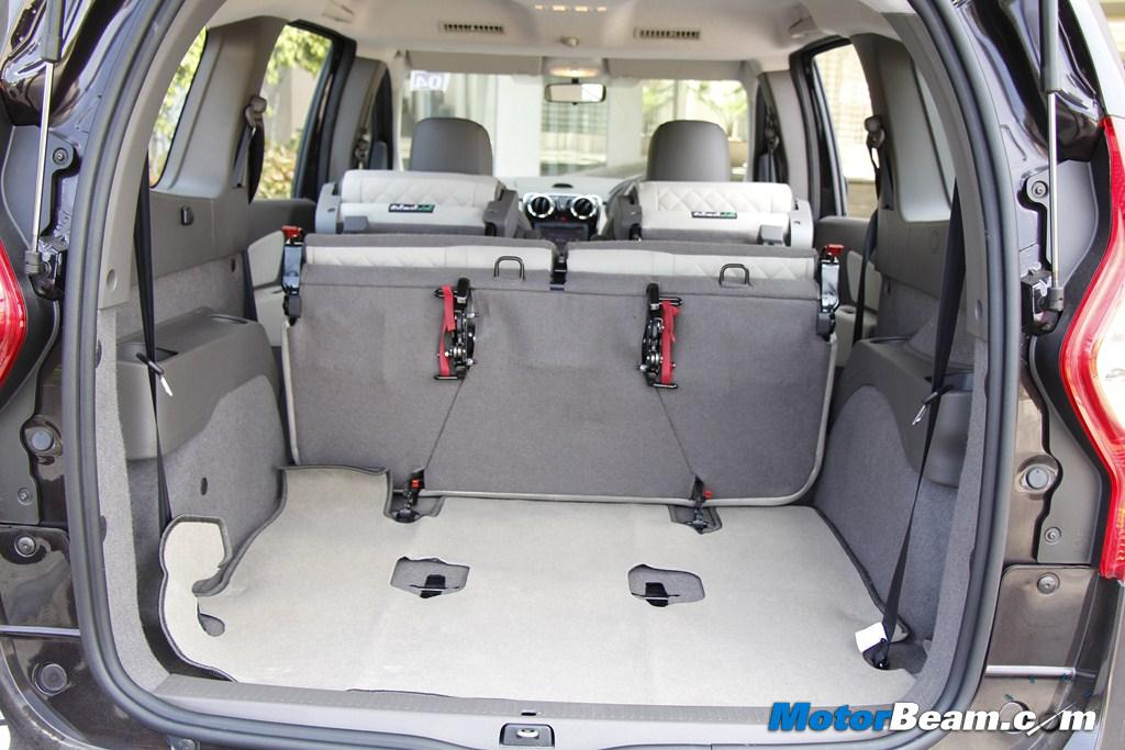 2015 Renault Lodgy Boot Capacity