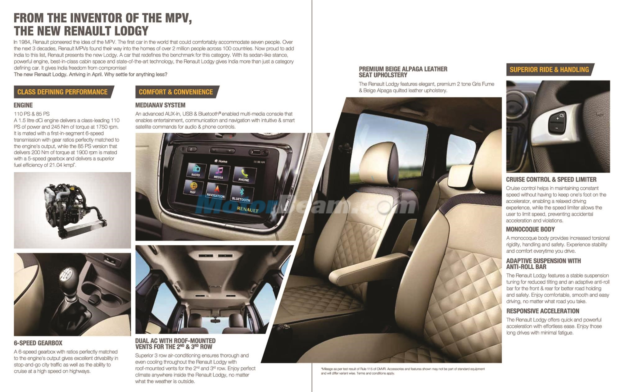 2015 Renault Lodgy Features