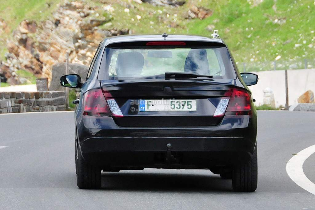 2015 Skoda Fabia Spy Shot Rear