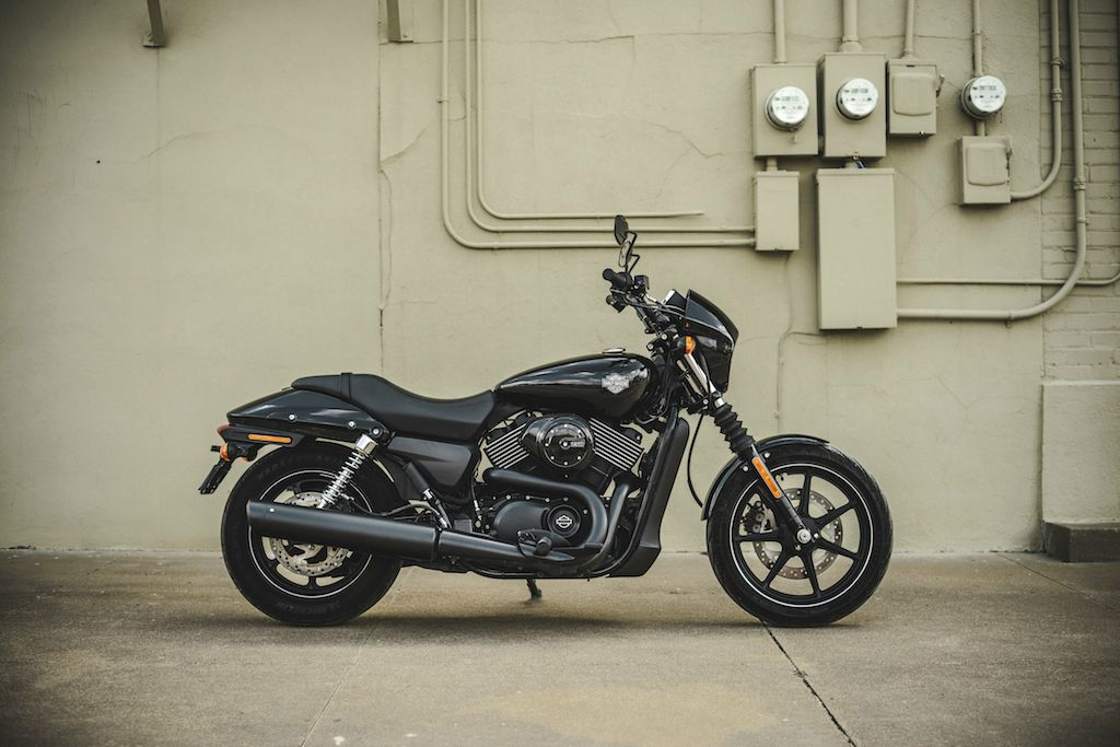 2016 Dark Custom Harley Street 750
