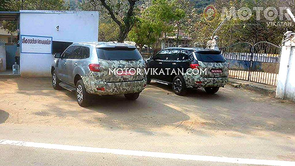 2016 Ford Endeavour Spied India
