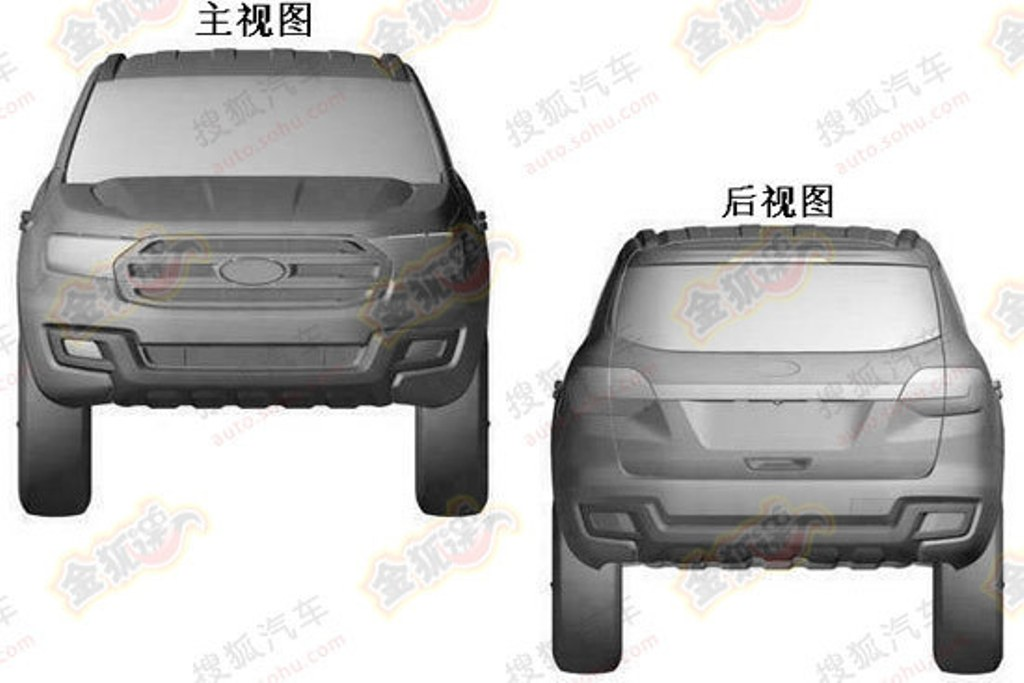 2016 Ford Everest Patent Front And Rear