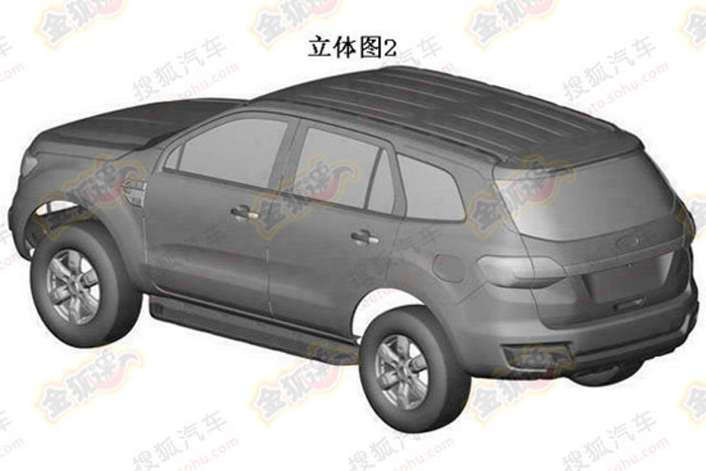 2016 Ford Everest Patent Rear