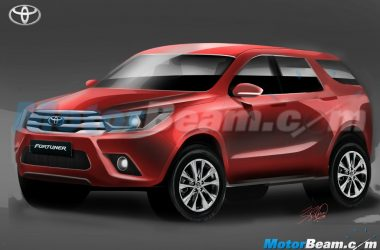 2016 Toyota Fortuner Rendered, Looks Promising