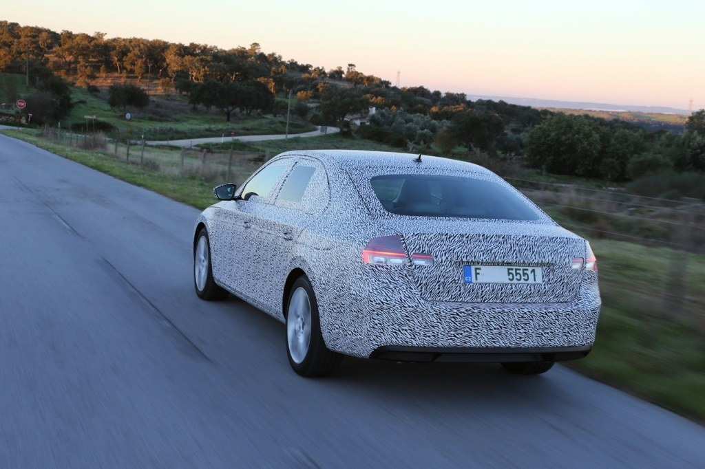 2016 Skoda Superb Teased Rear