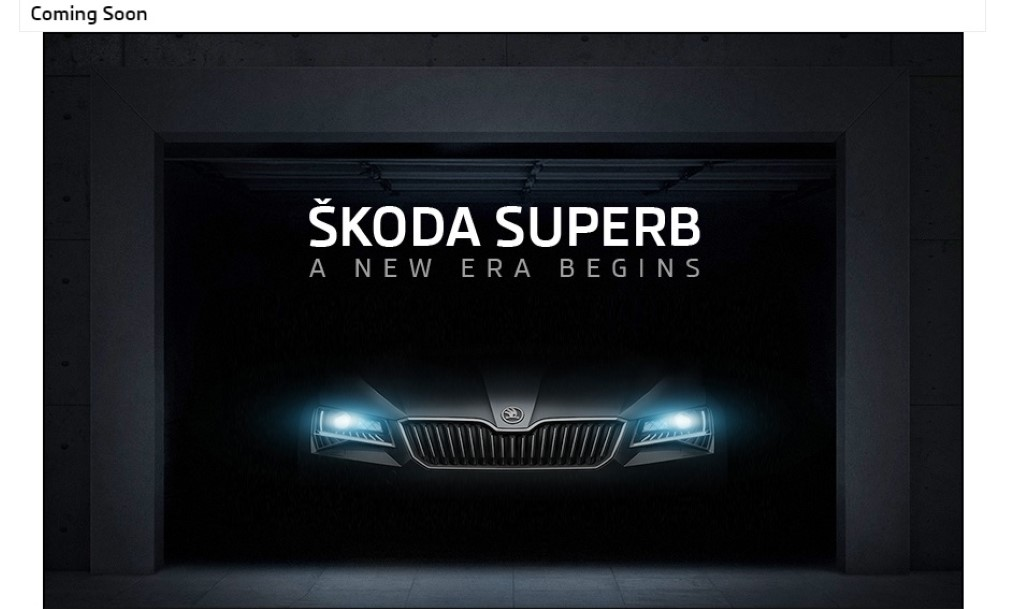 2016 Skoda Superb Website