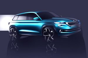 2016 Skoda VisionS Concept Front