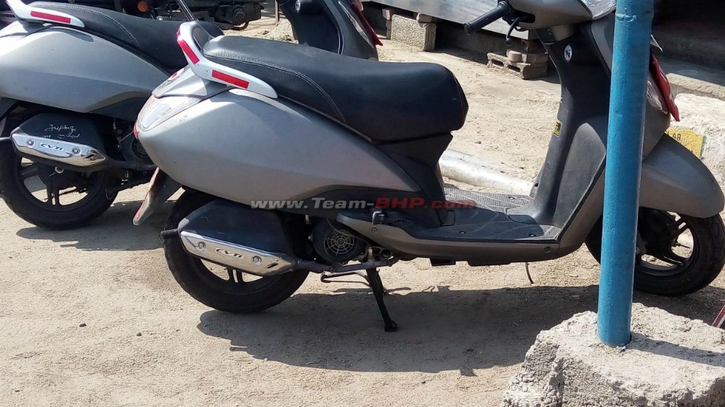Tvs Jupiter With Disc Brake Fuel Injection Spied In Coimbatore