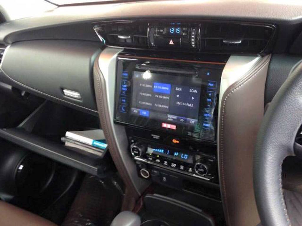2016 Toyota Fortuner Features List Leaked
