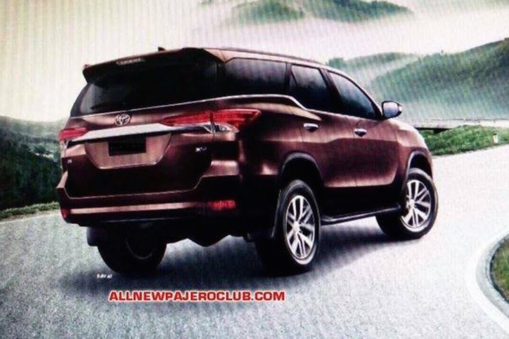 2016 Toyota Fortuner Rear Brochure