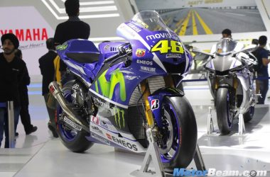 Valentino Rossi's Yamaha YZR-M1 Showcased At 2016 Auto Expo