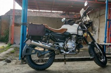 Bajaj Pulsar Modified To Look Like Royal Enfield Himalayan