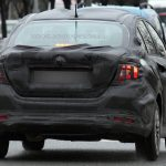 2017 Fiat Linea Test Mule Rear