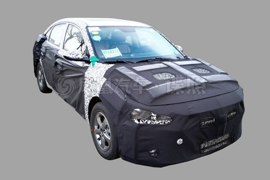 2017 Hyundai Verna Spy Shot China
