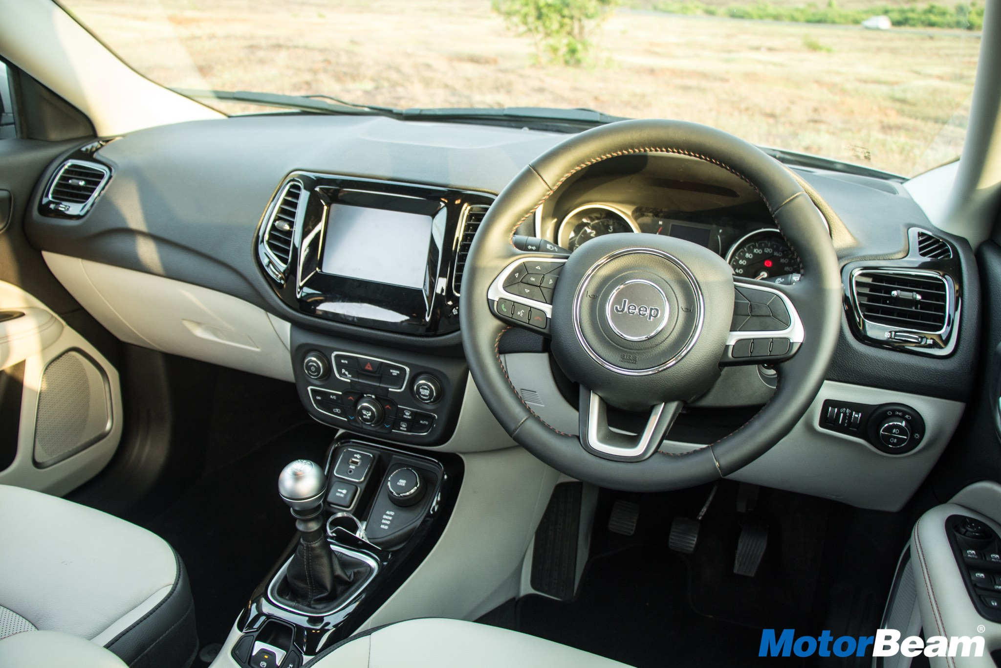 jeep compass interior in india. Black Bedroom Furniture Sets. Home Design Ideas