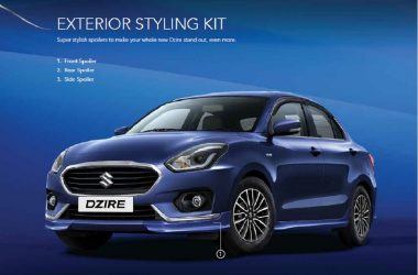 2017 Maruti DZire Accessories, Styling Packages Revealed