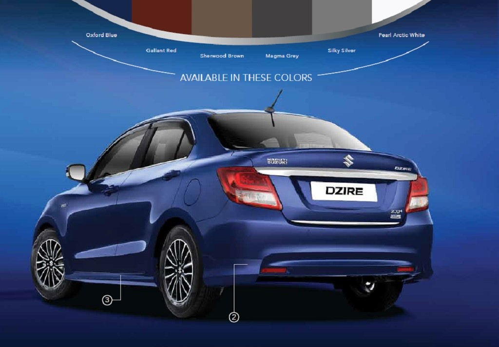 2017 Maruti DZire Exuberance Package Rear
