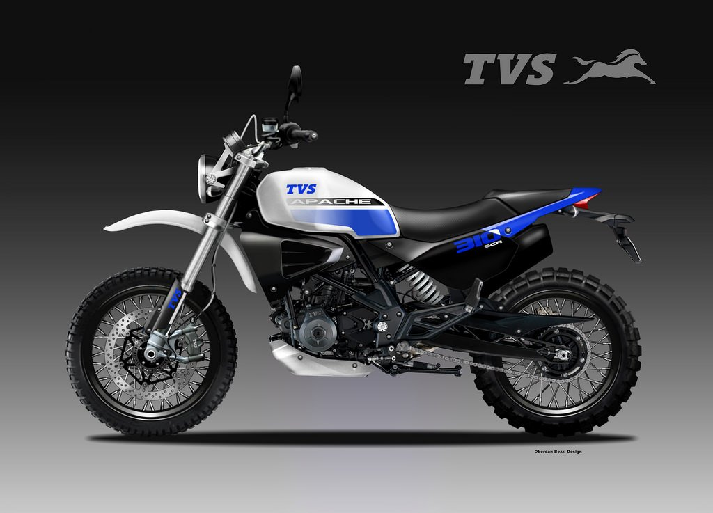 Bmw G310 Gs Based Tvs Apache Scr Concept Rendered Motorbeam