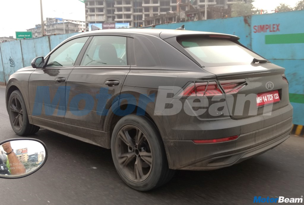 2018 Audi Q8 Rear Spotted