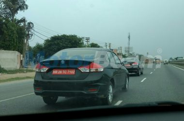 2018 Maruti Ciaz Facelift Unveiled In China, Spotted Again On Test