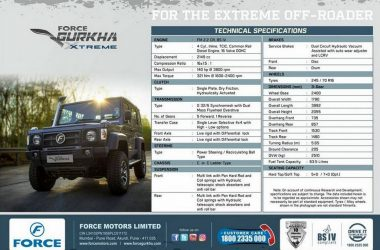 2018 Force Gurkha Xtreme Brochure