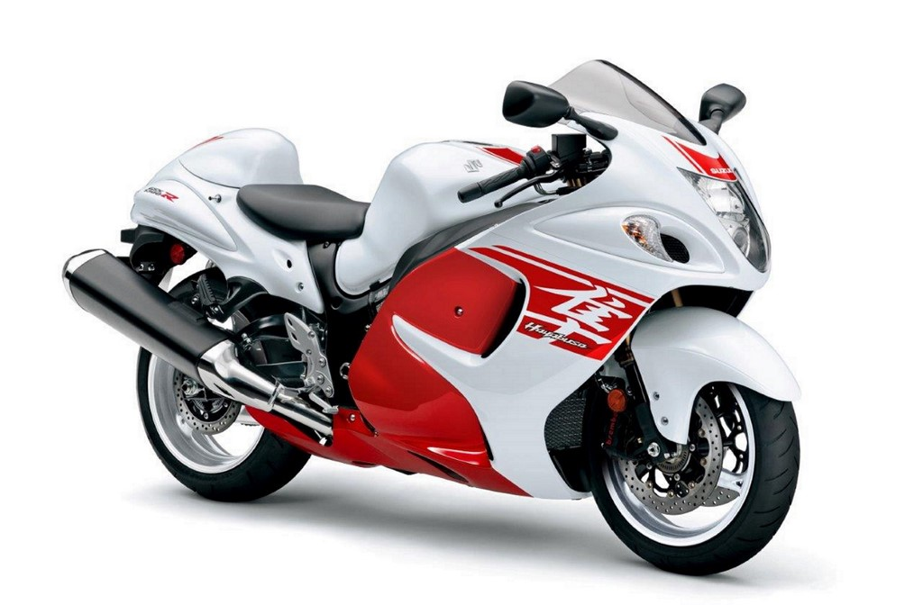 2018 Hayabusa White And Red Front